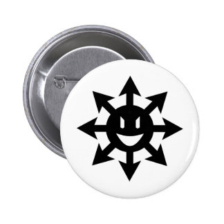 Smiling chaos star 6 cm round badge