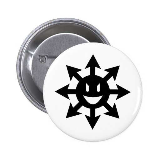 Smiling chaos star pinback button