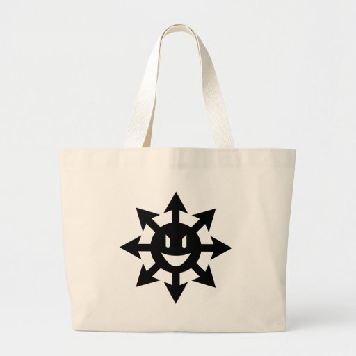 smiling chaos star canvas bag