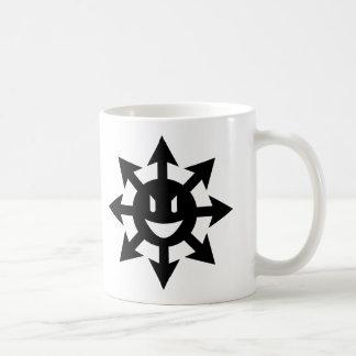 smiling chaos star basic white mug