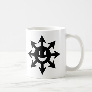 smiling chaos star coffee mug