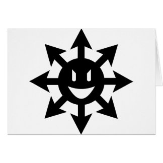 Smiling chaos star greeting card