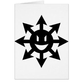 Smiling chaos star greeting card