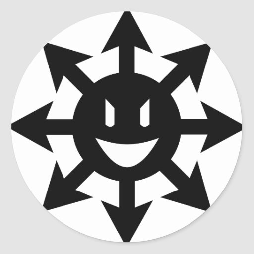smiling chaos star sticker