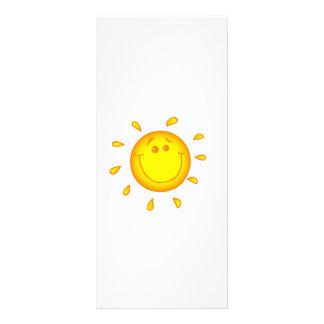 SMILING CHEERFUL SUNSHINE SUN HAPPY SUMMER FULL COLOR RACK CARD