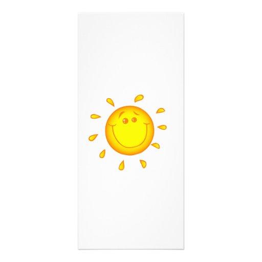 SMILING CHEERFUL SUNSHINE SUN HAPPY SUMMER RACK CARD DESIGN