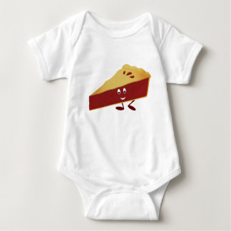 Smiling cherry pie slice baby bodysuit