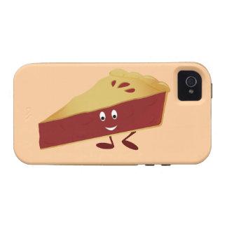 Smiling cherry pie slice iPhone 4 covers