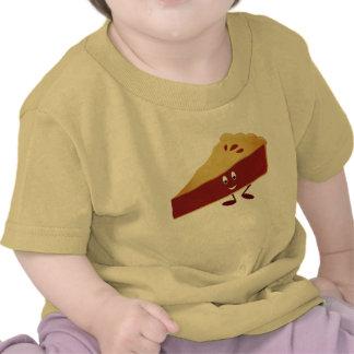 Smiling cherry pie slice tshirt