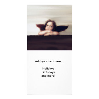 Smiling Cherub Angel Boy Photo Card Template
