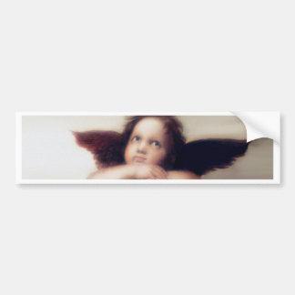 Smiling Cherub Boy Sistine Madonna Remake Bumper Sticker
