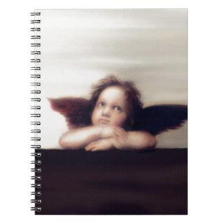 Smiling Cherub Boy Sistine Madonna Remake Note Books