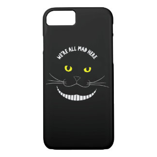 Smiling Cheshire Transparent Cat With Yellow Eyes iPhone 8/7 Case