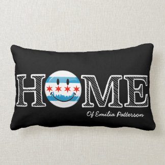 Smiling Chicago Flag Housewarmer Lumbar Cushion