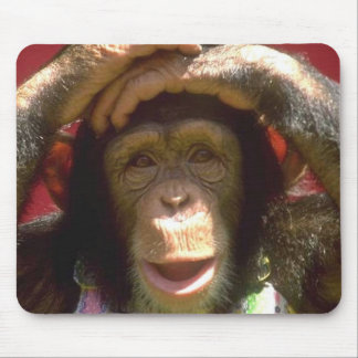 Smiling Chimpanzee Mouse Mats