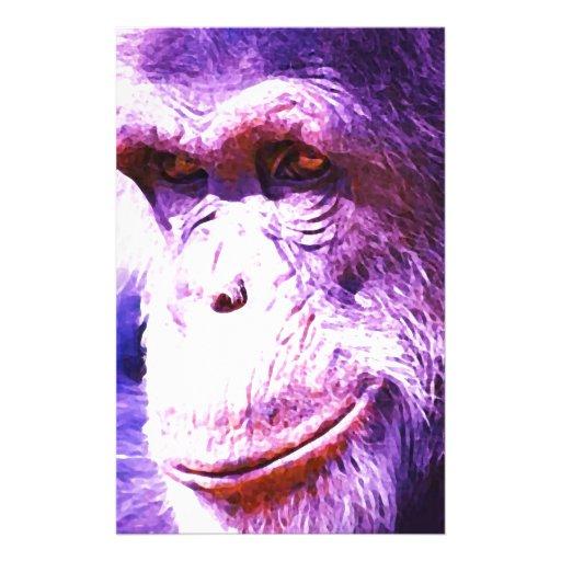 Smiling Chimpanzee Personalized Stationery