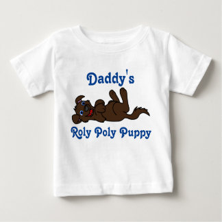 Smiling Chocolate Puppy Dog Roll Over Tshirt