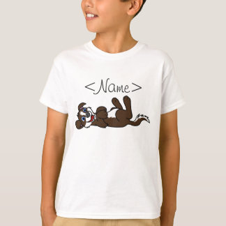 Smiling Chocolate Puppy Dog with Blaze Roll Over T Shirts
