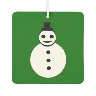 Smiling Christmas Snowman Air Freshener