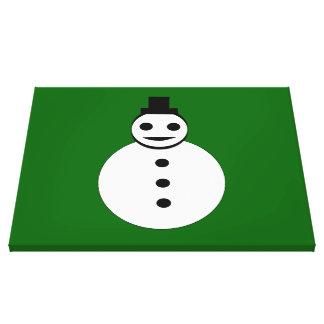 Smiling Christmas Snowman Canvas Print