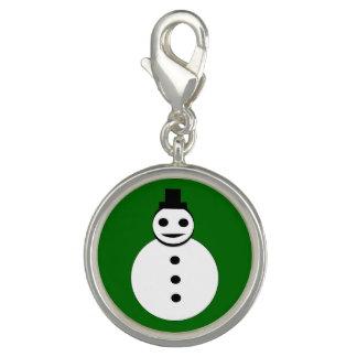 Smiling Christmas Snowman Charm