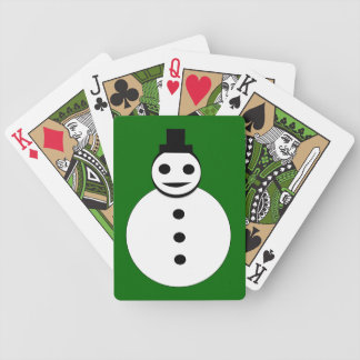 Smiling Christmas Snowman Playing Cards