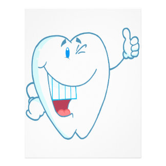 Smiling Clean Tooth Cartoon Character Thumbs Up.ai 21.5 Cm X 28 Cm Flyer