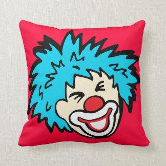 Smiling clown graphic pillow throw cushions