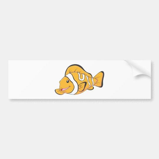 Smiling Clownfish Bumper Sticker