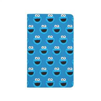 Smiling Cookie Monster Pattern Journal