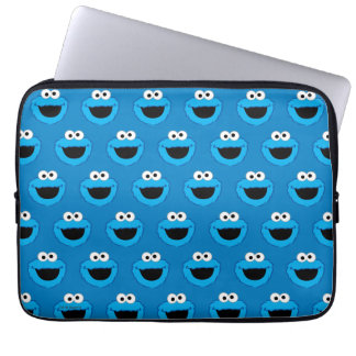 Smiling Cookie Monster Pattern Laptop Computer Sleeve