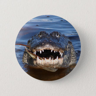 Smiling Crocodile 6 Cm Round Badge