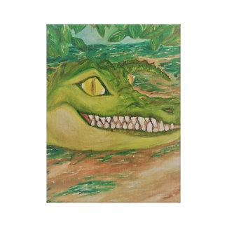 Smiling Crocodile on Canvas