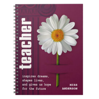 Smiling Daisy  Custom Gift Notebooks for Teachers