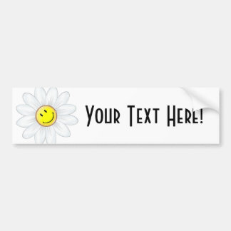 Smiling Daisy Flower Bumper Sticker