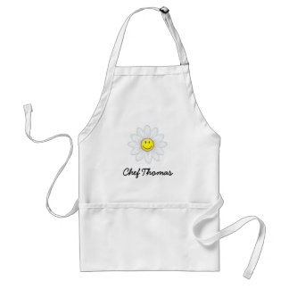 Smiling Daisy Flower Standard Apron