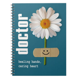 Smiling Daisy Gift Notebook for Doctors