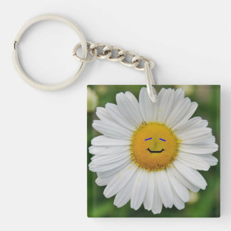 Smiling Daisy Key Ring