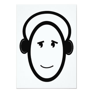 Smiling DJ 13 Cm X 18 Cm Invitation Card