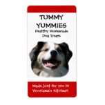 Smiling Dog Doggie Treats Kitchen Label Sticker Shipping Label