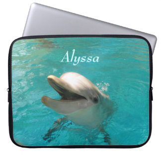 Smiling Dolphin Laptop Computer Sleeves