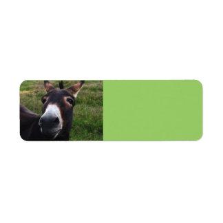 Smiling Donkey Avery Label Return Address Label