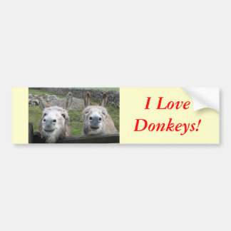 Smiling Donkeys! Bumper Stickers