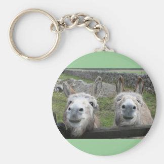 Smiling Donkeys! Key Ring