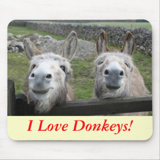 Smiling Donkeys! Mouse Mat