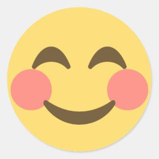 Smiling Emoji Round Sticker