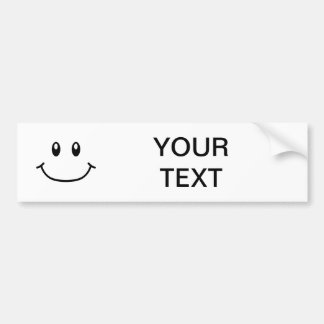 Smiling Expression Bumper Sticker 0001