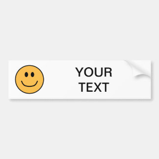 Smiling Face Bumper Sticker Orange 0002