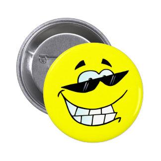 Smiling Face in Sun Glasses 6 Cm Round Badge