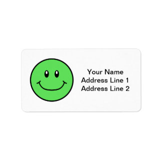 Smiling Face Labels Green 0001